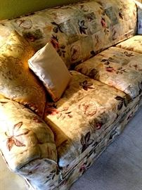 Pretty Three Cushion Floral Sofa...