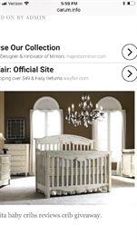 Bonavita baby bedroom set with mattress. Dresser changing table crib and toddler railing. In good condition. Purchased everything for $2000 selling for $500 with mattress