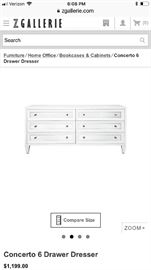 Z gallerie dresser with 2 matching nightstands purchased all 3 for $2,200 and asking $1000 for all 3. In good condition