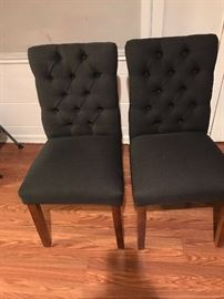 5 dining chairs in dark grey $50 each