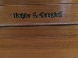 Kohler and Campbell spinet piano