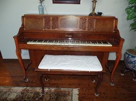 "Kimball ""Spinet"" Piano and bench"