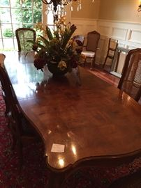 """Dining table 6 chairs: 118"""" x  44"""""""