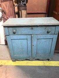 Great BLUE PAINT washstand
