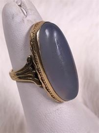 009 10k Gold And Moonstone Ring