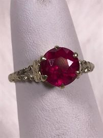 010 Gold and Ruby Ring