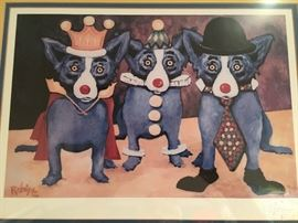 """Available for pre sale: George Rodrigue signed print """"I Just Don't Wanna Be Me"""" (Mardi Gras), 1991-2, framed 21x18; 1 left; email earlybirdes@gmail.com"""