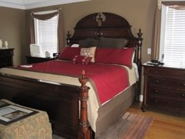 Thomasville , Fredericksburg,  King Bedroom Group.  Includes: complete king sized bed, 2 matching nightstands, dresser with mirror.  Armoire.  This item must be professionally moved.