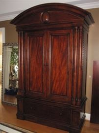 "Thomasville Armoire.  Accommodates a 47"" TV.  63"" wide x 90"" Tall x 22"" deep.  Beautiful.  Does dismantle.  Please note, must be professionally moved."
