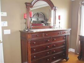 """Thomasville Dresser and Mirror. 64"""" W x 46"""" H x 21 D"""