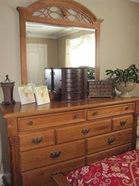 """Dresser and Mirror.  66""""W x 39"""" T x 21 3/4 D"""