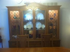 CHINA CABINET ONLY LARGE 2 PIECE