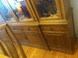 BOTTOM OF CHINA CABINET CAN BE USED AS A BUFFET VERY NICE