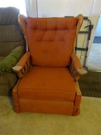 rocking chair orange