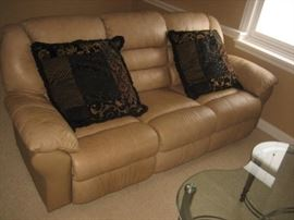 Leather Sofa with Reclining Ends