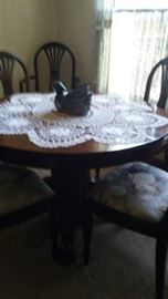 Antique claw foot Dining table and chairs