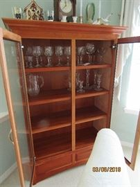 HAND MADE BY THE AMISH IN LANCASTER PA.. SHELVES ARE ADJUSTABLE AND ALL MADE OF FINE CHERRY WOOD