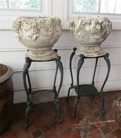 concrete urns and stands