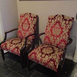 pair arm chairs