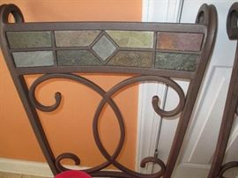 Detail for chairs.  Tile inlay.
