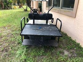 back of Golf Cart