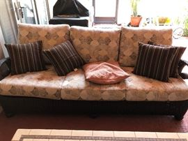 Upscale Couch by Leisure Garden Specialties Weather Resistant and  and covered in Sunbrella Sun & Rain resistant Fabric