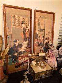 Vintage Phone, Asian Prints & Art