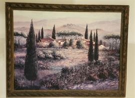 "One of many oil on canvas framed art ""Italian"" scenery"