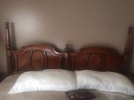 estate sale.california king bed, mattress and headboard