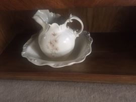 estate sale.pitcher and bowl