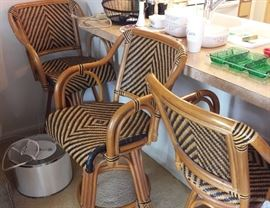Rattan and wicker Bar Stools