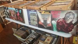 Vinyl albums, rock LPs, records