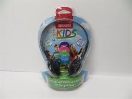 Maxwell action kids headphones with mic