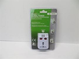 Powerline global power plug adapter