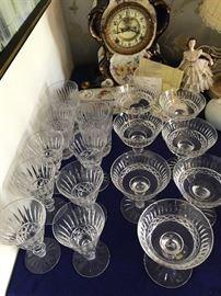 Waterford Crystal Glasses & Royal Bonn Clock