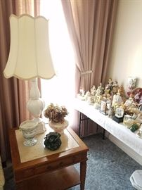 Porcelain Kitsch, lamp, end table