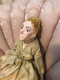 Art Deco Hand Made Paper Mache Doll