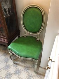 Set of Four Hollywood Regency Dining Chairs