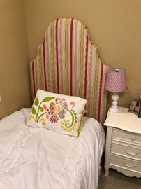 """Twin Upholstered HeadboardsTo Fit Standard Bed Frame41""""W x 68""""HFabric: Tenuous - Lemongrass   x2   original price  1,320.00"""