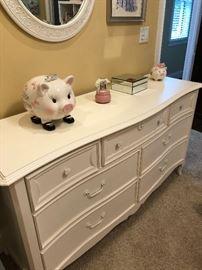 "Ma Marie Double Dresser 64""W x 20.25""D x 35""H Finish: French White    original price  1,240.00"