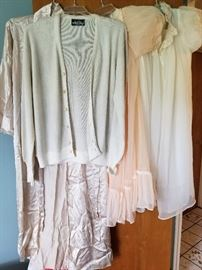 vintage peignoir set and man's sweater