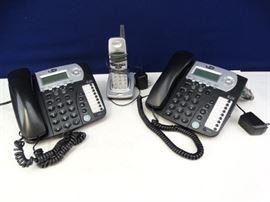 2 Corded Phones, 1 Cordless Phone