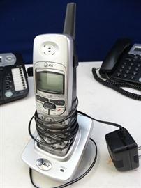 5 Corded Phones, 1 Cordless Phone