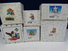 6 Assorted Charming Tails Figurines in Boxes