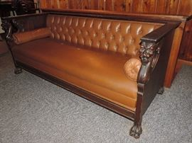 WE LOVE THIS !!! Circa 1900 Era GRIFFIN SOFA