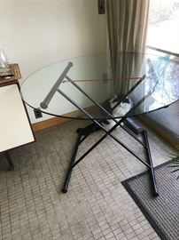 Glass Table - adjusts to two heights