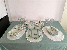 Dish Set with Goblets  https://www.ctbids.com/#!/description/share/5880