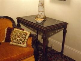 Rectangular Parlor Table Marble Top