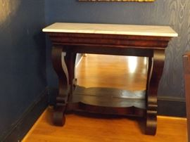 Empire Pier Marble Top Console Tables