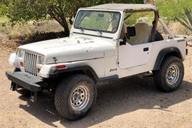 1988 Jeep Wrangler 140k Miles 2.5L 4WD 5 Speed - No Reserve!